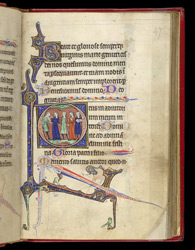 Mid-afternoon Prayers and Musicians and Dancers, in a Book of Hours